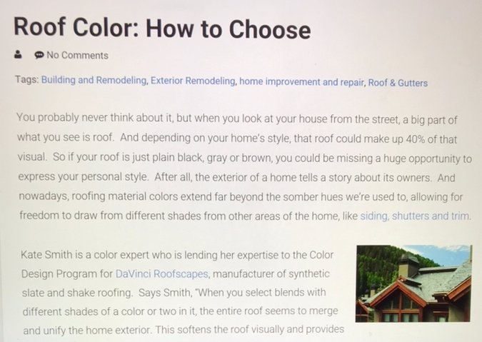 Roof Color: How to Choose