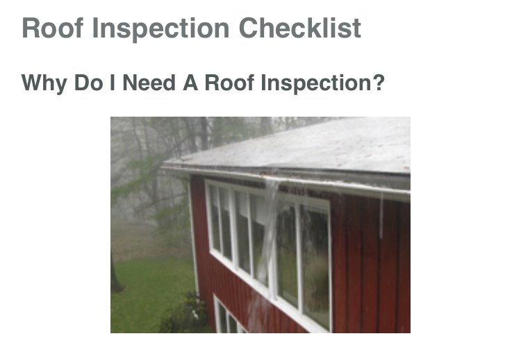 Why Do I need A Roof Inspection?